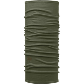 Buff Lightweight Merino Wool Neck Tube, solid forest night